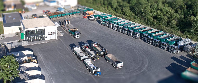 Firmengelände HEIGA Transporte